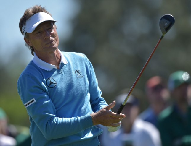 Bernhard Langer continues to build on his lead at the Senior Open Chanmpionship in Wales. Photo by Kevin Dietsch/UPI