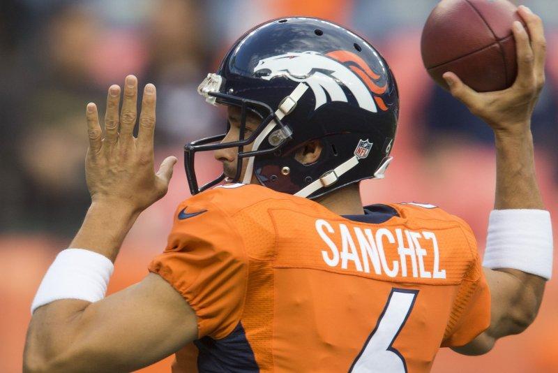 Former Denver Broncos quarterback Mark Sanchez. File photo by Gary C. Caskey/UPI