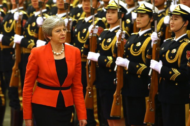 British Prime Minister Theresa May was denied a request to open renegotiations in her plan to leave the European Union. File Photo by Stephen Shaver/UPI