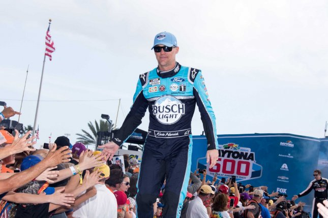 NASCAR's Kevin Harvick said he was fatigued after he competed in five Cup Series races in 15 days as part of the sport's resumed season. File Photo by Edwin Locke/UPI