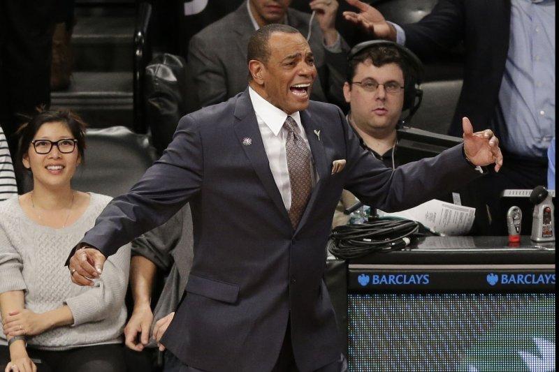 Brooklyn Nets head coach Lionel Hollins. Photo by John Angelillo/UPI