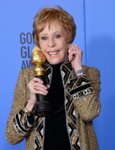 Carol Burnett appears backstage with the Carol Burnett Award during the 76th annual Golden Globe Awards in Beverly Hills on Sunday. Photo by Jim Ruymen/UPI