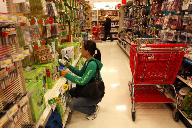 A customer shops for toys at a Target location during the holiday season in Houston, Texas. The retailer said Thursday it will ramp up hiring for the 2020 season. File Photo by Aaron M. Sprecher/UPI