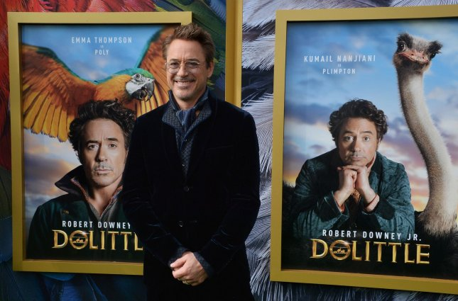 Robert Downey Jr. shared a funny video of himself celebrating the new year. File Photo by Jim Ruymen/UPI