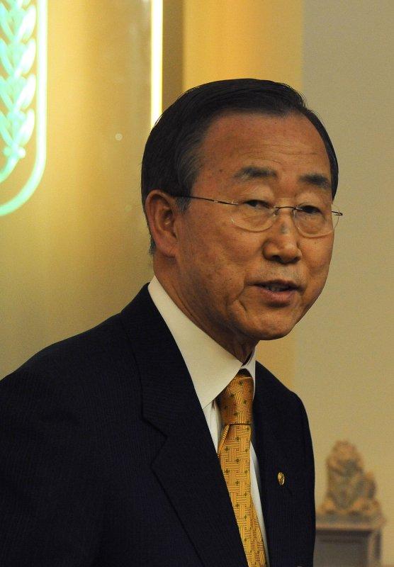 U.N. Secretary General Ban Ki-Moon, shown in Jerusalem March 21, 2010. UPI/Ahikam Seri/Pool