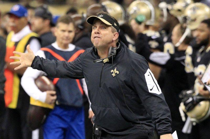 New Orleans Saints head coach Sean Payton. Photo by AJ Sisco/UPI