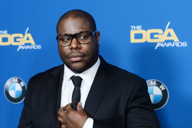 Director Steve McQueen arrives on the red carpet for the 66th annual Directors Guild of America Awards at the Hyatt Regency Century Plaza in Los Angeles on January 25, 2014. McQueen has been honored with the BFI Fellowship at the London Film Festival. File Photo by Jim Ruymen/UPI