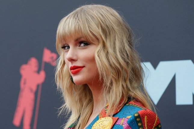 Taylor Swift arrives on the red carpet at the MTV Video Music Awards in August. File Photo by John Angelillo/UPI