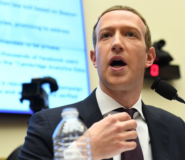 Senate Judiciary Committee Republicans voted Thursday to authorize a subpoena for Facebook CEO Mark Zuckerberg to testify about alleged censorship. File Photo by Pat Benic/UPI