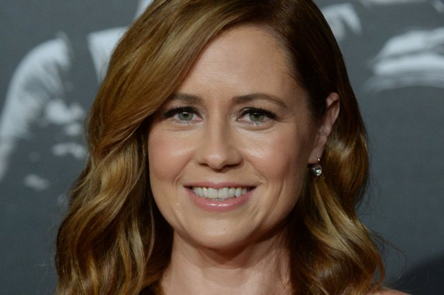 Office Ladies host Jenna Fischer attends the premiere of The 15:17 to Paris on February 2018. The podcast won two awards at the 2021 iHeartRadio Podcast Awards. File Photo by Jim Ruymen/UPI