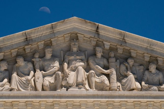 The facade of the U.S. Supreme Court is seen in Washington, D.C., last Thursday. Photo by Ken Cedeno/UPI