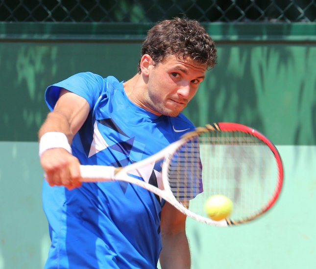 Grigor Dimitrov, shown in a 2012 file photo, was an upset victim Tuesday at the ATP's PBZ Zagreb Indoors torunament in Croatia. UPI/David Silpa