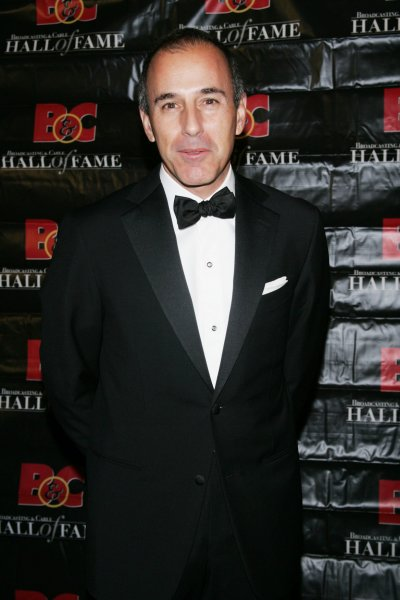 Matt Lauer, Co-Anchor of NBC News Today Show arrives at the 18th Annual Broadcasting & Cable Hall of Fame Awards Dinner at the Waldorf Astoria Hotel in New York on October 21, 2008. (UPI Photo/Laura Cavanaugh)