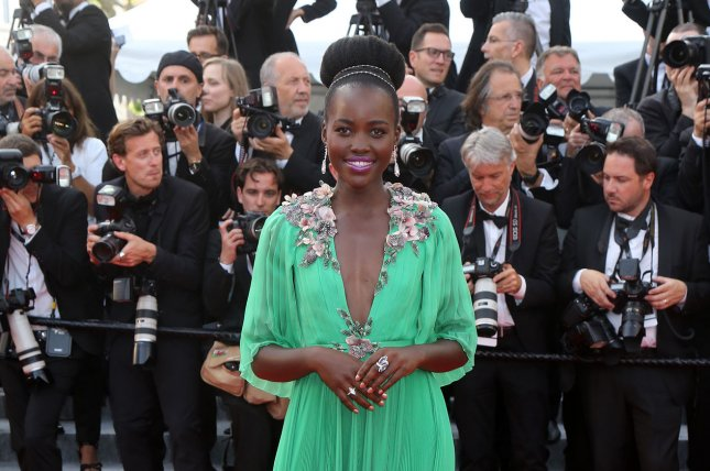 Lupita Nyong'o arrives on the red carpet before the screening of the film La Tete Haute (Stand Tall) during the 68th annual Cannes International Film Festival in Cannes, France on May 13. Lupita Nyong'o has joined WildAid in order to protect Elephants from poaching. File Photo by David Silpa/UPI