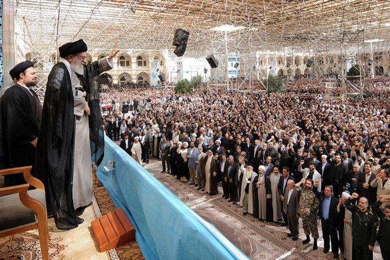 Iran's Supreme Leader Ayatollah Khamenei says U.S. won't gain a foothold in his country. File Photo by UPI/Leader.ir/HO