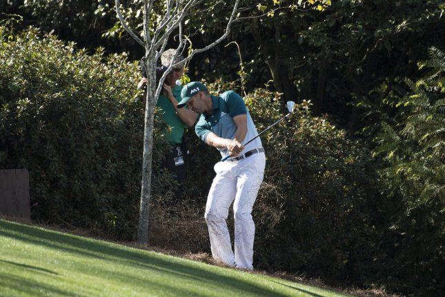 Sergio Garcia, shown here during the 2017 Masters, has a new attitude that Padraig Harrington is thrilled with File photo by Kevin Dietsch/UPI
