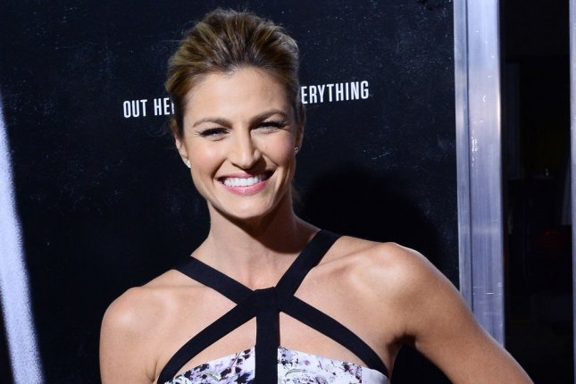 Erin Andrews attends the Los Angeles premiere of Captain Phillips on September 30, 2013. The television personality shared pictures Monday from her June 24 nuptials to Jarret Stoll. File Photo by Jim Ruymen/UPI