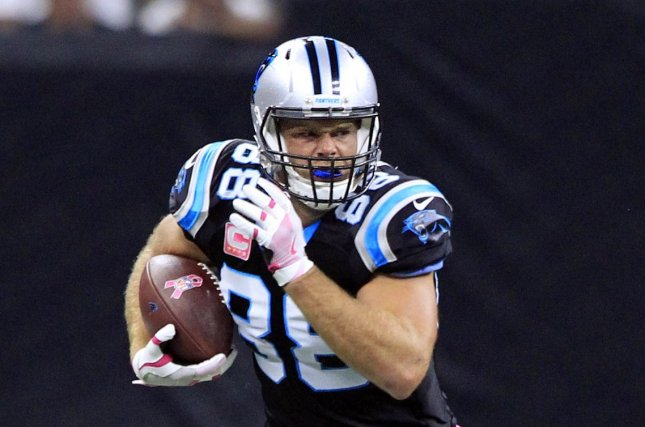 Carolina Panthers tight end Greg Olsen could return from an injury this weekend against the Washington Redskins. Photo by AJ Sisco/UPI