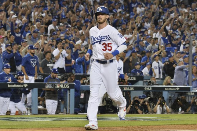 Los Angeles Dodgers slugger Cody Bellinger had 47 home runs and 15 stolen bases last season. File Photo by Jim Ruymen/UPI