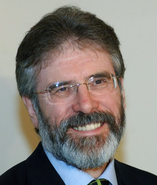 Former Sinn Fein Party President Gerry Adams had his convictions vacated Wednesday by the British Supreme Court, for two escape attempts in the 1970s at a prison in Northern Ireland. File Photo by Roger L. Wollenberg/UPI