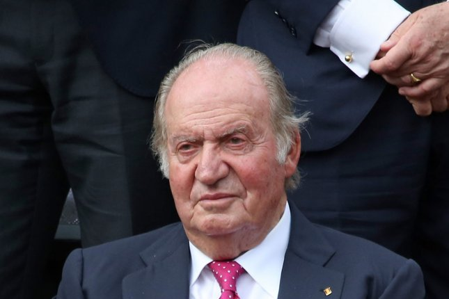 Emeritus King Juan Carlos of Spain's location has been confirmed two weeks after going into exile amid accusations of financial wrongdoing. File Photo by David Silpa/UPI