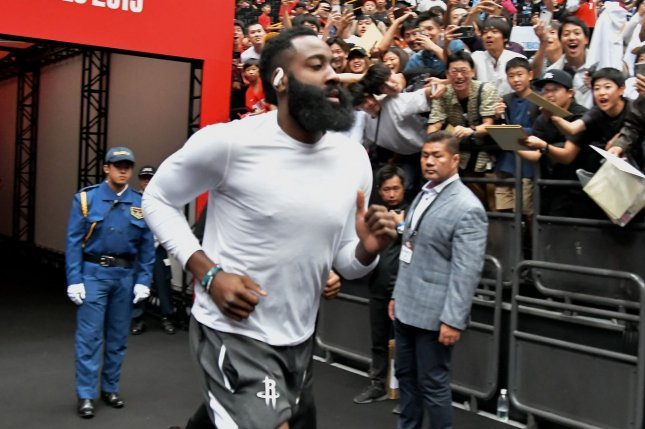 The Miami Heat are no longer in pursuit of James Harden, who requested a trade from the Houston Rockets earlier this off-season. File Photo by Keizo Mori/UPI