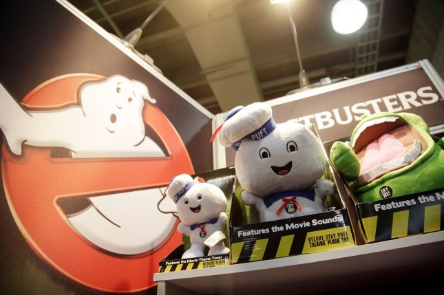 Ghostbusters dolls are on display at the 112th North American International Toy Fair at the Jacob K. Javits Convention Center in New York City on February 16, 2015. File Photo by John Angelillo/UPI