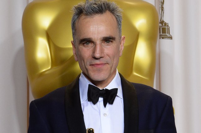 Actor Daniel Day-Lewis holds his Oscar for Best Performance by an Actor in a Leading Role in Lincoln backstage at the 85th Academy Awards in Los Angeles on February 24, 2013. Day-Lewis has announced he is retiring from acting. File Photo by Jim Ruymen/UPI
