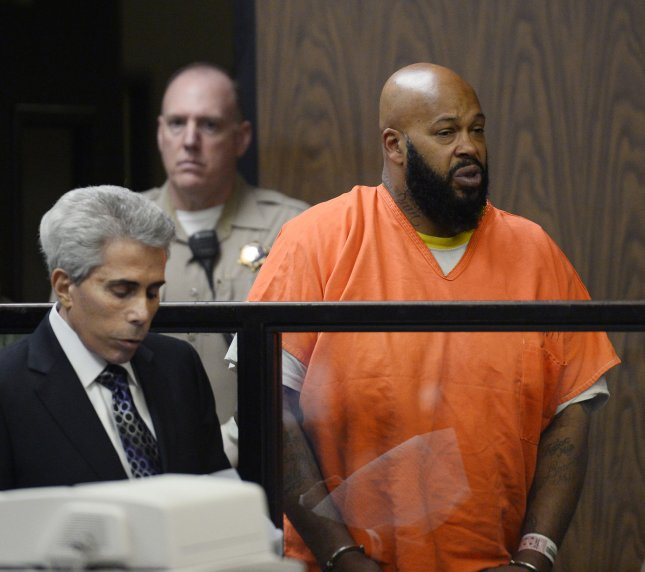 Former rap mogul Suge' Knight is expected to receive 28 years in prison for the hit-and-run death of Terry Carter. File Photo by Paul Buck/UPI