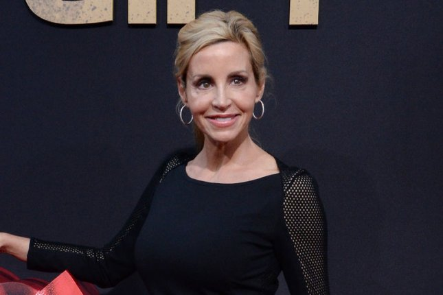 Camille Grammer showed what's left of her house after it was destroyed in the California wildfires. File Photo by Jim Ruymen/UPI