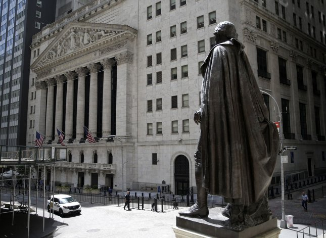 The Dow Jones Industrial Average climbed 329 points on Wednesday, but all three major U.S. indexes ended the month of September with losses, their first monthly loss since March. FilePhoto by John Angelillo/UPI