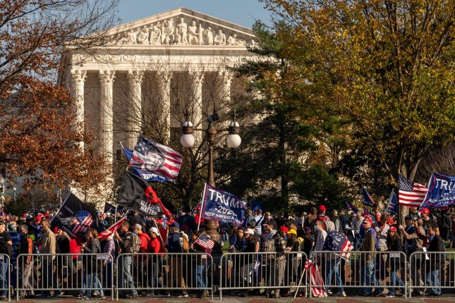 Republicans on Thursday asked the Supreme Court to prevent Pennsylvania from certifying election results that state President-elect Joe Biden won the commonwealth. Photo by Ken Cedeno/UPI