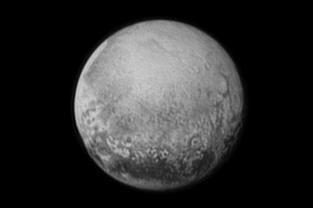 A NASA image from Saturday shows Pluto from NASA's New Horizons spacecraft. The spacecraft will come closest to Pluto on Tuesday after traveling 3 billion miles over nine years. Photo courtesy of NASA/UPI