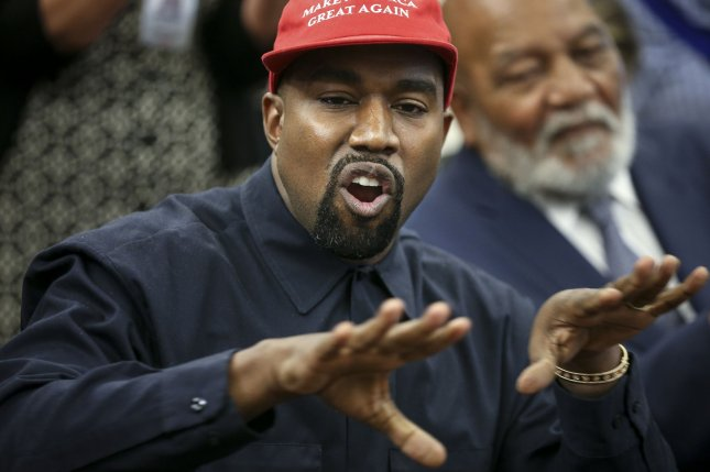 Rapper Kanye West's Jesus is King is No. 1 on Saturday's Billboard 200 album chart. File Photo by Oliver Contreras/UPI
