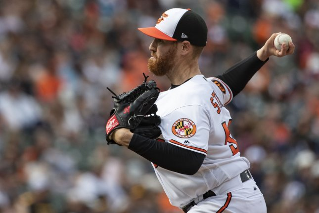Veteran pitcher Dan Straily is one of several former Major League Baseball players on the Lotte Giants' roster. File Photo by Alex Edelman/UPI