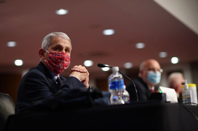 Dr. Anthony Fauci, director of the National Institute for Allergy and Infectious Diseases, testifies before the Senate Health, Education, Labor and Pensions Committee on Capitol Hill in Washington, D.C., on June 30. Photo by Kevin Dietsch/UPI