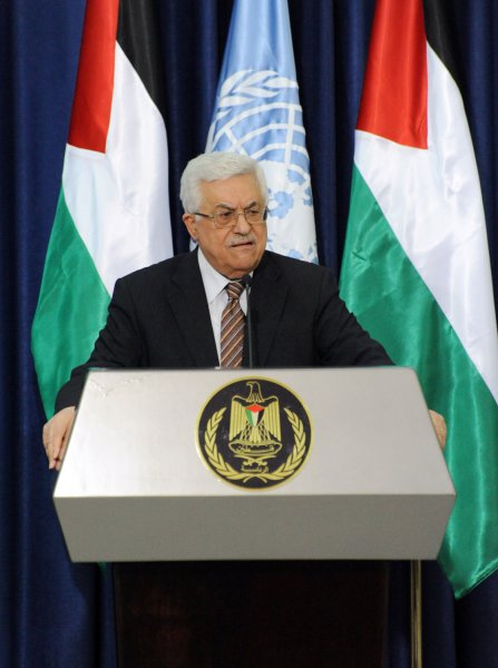 Palestinian President Mahmoud Abbas appears at a news conference in Ramallah, West Bank, Feb. 1, 2012. UPI/Debbie Hill