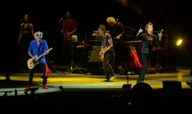 The Rolling Stones perform onstage during Desert Trip 2 at the Empire Polo Field in Indio, Calif. on October 14, 2016. Photo by Jim Ruymen/UPI