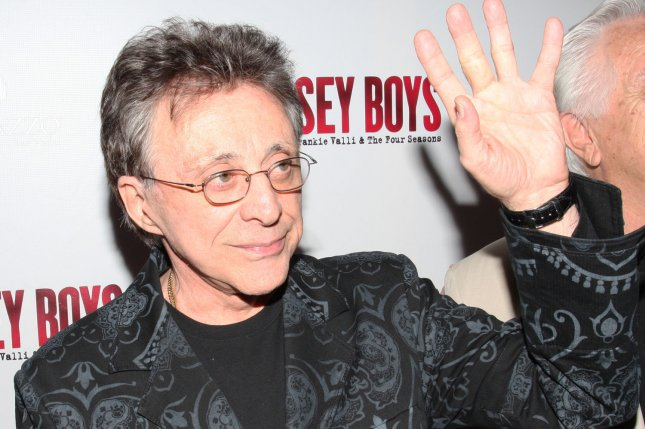 Singer Frankie Valli appears for the premiere of the new musical Jersey Boys in Las Vegas on May 3, 2008. The Broadway production of the show closed Sunday after 11 years. File Photo by Daniel Gluskoter/UPI