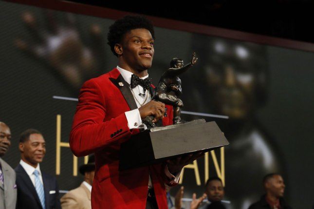 Heisman Trophy winner Lamar Jackson of Louisville should be one of the top picks in the 2018 NFL Draft. File photo by Todd J. Van Emst/Heisman Trust/UPI