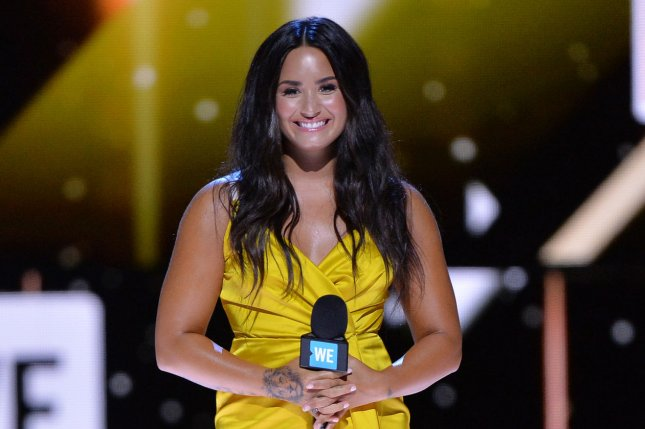 Demi Lovato attends WE Day California on April 27. The singer recently broke up with Guilherme Bomba Vasconcelos after less than a year of dating. File Photo by Jim Ruymen/UPI