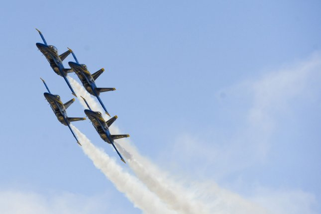President Donald Trump announced Wednesday that the Navy Blue Angels and Air Force Thunderbirds will conduct exhibitions over several U.S. cities in the coming weeks in honor of healthcare workers amid the COVID-19 pandemic. File Photo by Lori Shepler/UPI