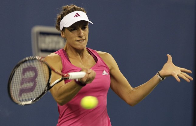 Andrea Petkovic, shown in last year's U.S. Open, has advanced to the finals of the Brisbane Open in Australia with a win Friday UPI/John Angelillo