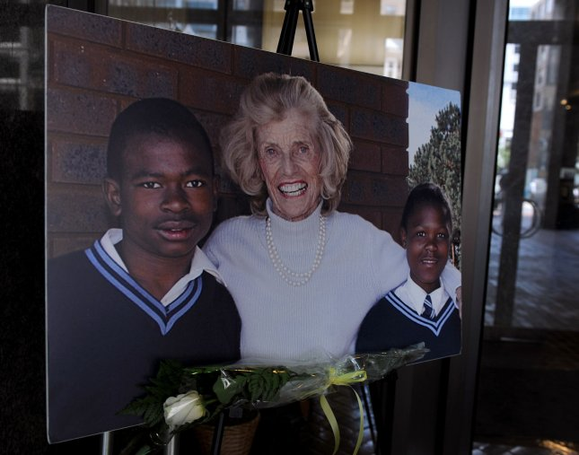 A memorial at Special Olympics headquarters in Washington is seen after Eunice Kennedy Shriver, President Kennedy's sister and founder of the Special Olympics, died today, August 11, 2009, at the age of 88. UPI/Roger L. Wollenberg
