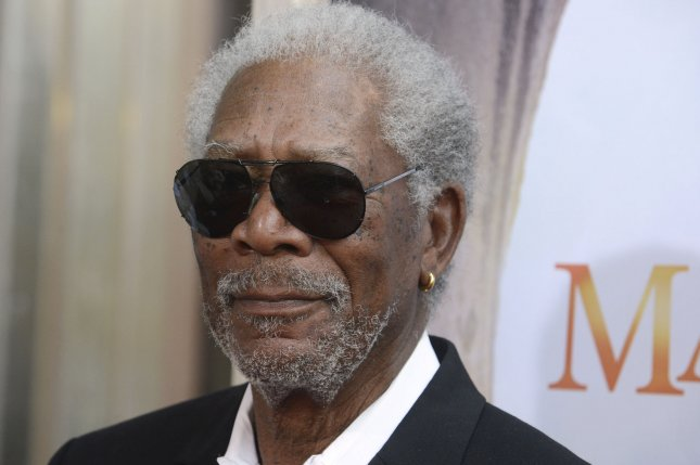 Narrator Morgan Freeman attends the premiere of the film Island of Lemurs: Madagascar at the California Science Center in Los Angeles on March 29, 2014. File Photo by Phil McCarten/UPI
