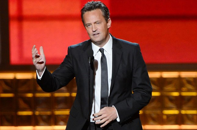 Matthew Perry -- seen in a 2012 file photo by Jim Ruymen/UPI -- will play Ted Kennedy in a TV miniseries.