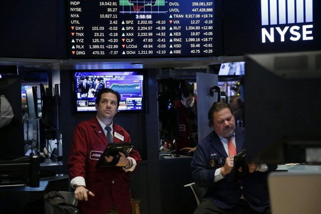 The S&P 500's streak of 161 days without a closing loss of more than 1 percent ended on March 21, 2017. Photo by John Angelillo/UPI
