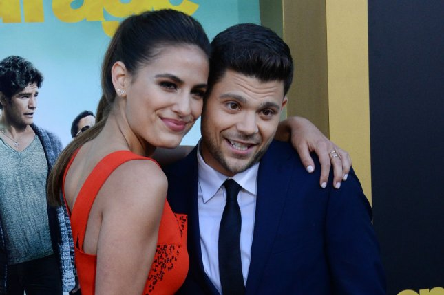 Jerry Ferrara (L), pictured with Breanne Ferrara, is excited to be expecting a son with Breanne. File Photo by Jim Ruymen/UPI