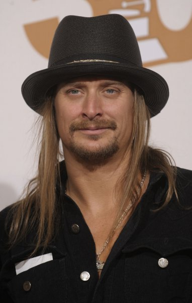 Kid Rock appears backstage at the 50th annual Grammy Awards at the Staples Center in Los Angeles on February 10, 2008. (UPI Photo/Phil McCarten)