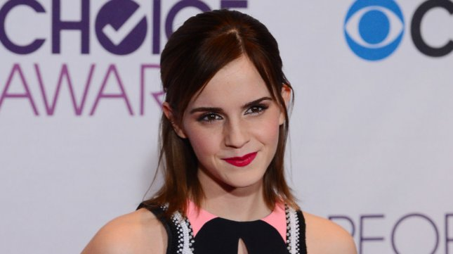 Actress Emma Watson appears backstage after winning the Favorite Dramatic Movie Actress award for Hunger Games, during the 39th annual People's Choice Awards at Nokia Theatre L.A. Live in Los Angeles on January 9, 2013. UPI/Jim Ruymen